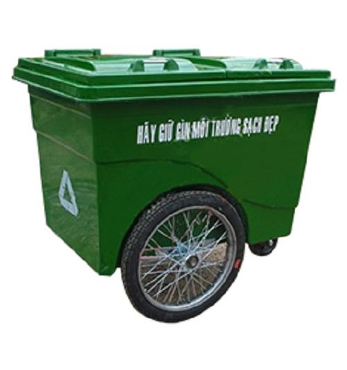xe thu gom rác 660 lít composite